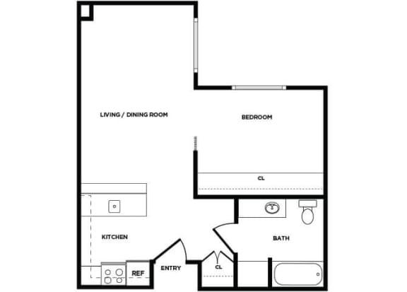 Floor Plan  A7 floor plan at Boardwalk Apartments