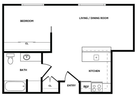 Floor Plan  A8 floor plan at Boardwalk Apartments