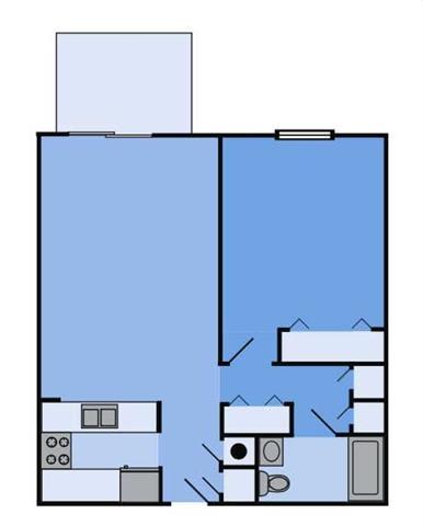 THE CEDAR Floor Plan at Woodbridge Apartments, Louisville, KY