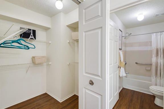 model closet bath at Altitude at Blue Ash, Ohio, 45242