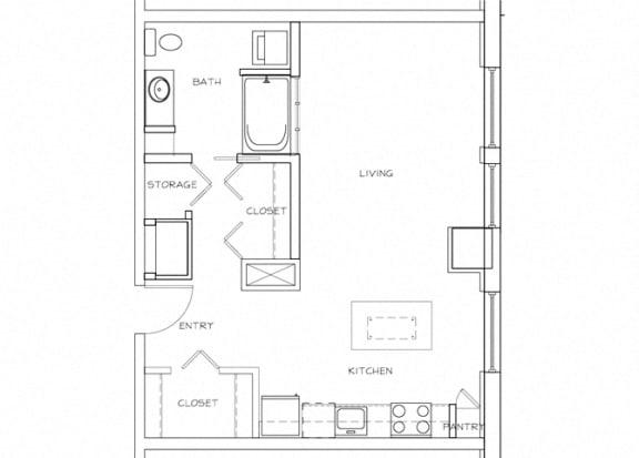 Eitel Apartments A3 Studio floor plan