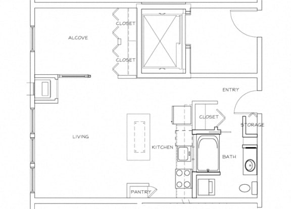 Eitel Apartments A4 Studio floor plan