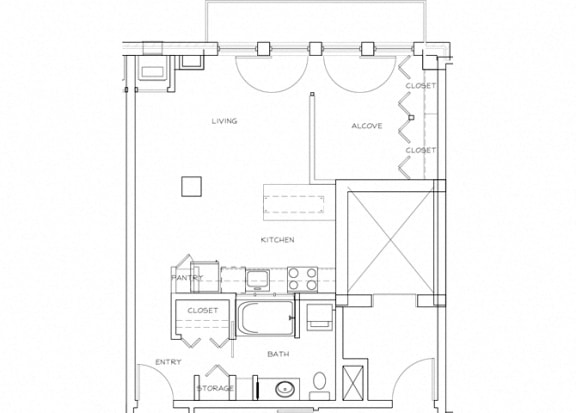 Eitel Apartments A5 Studio floor plan