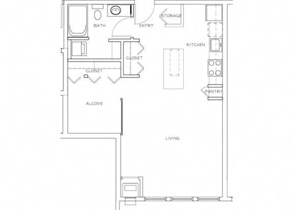 Eitel Apartments A7 Studio floor plan
