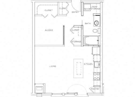 Eitel Apartments A8 Studio floor plan