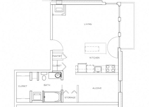Eitel Apartments A9 Studio floor plan