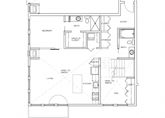 Eitel Apartments B12 2 bedroom floor plan