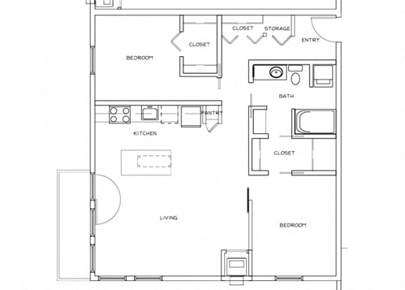 Eitel Apartments B2 2 bedroom floor plan