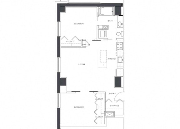 Eitel Apartments B3 2 bedroom floor plan