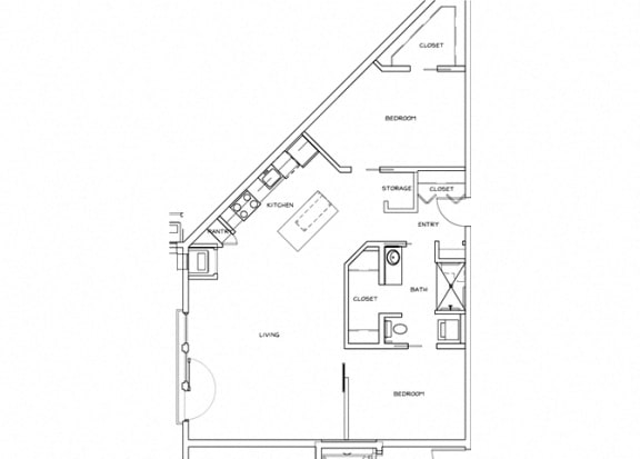 Eitel Apartments B4 2 bedroom floor plan