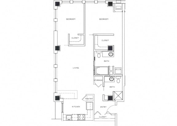 Eitel Apartments B5 2 bedroom floor plan