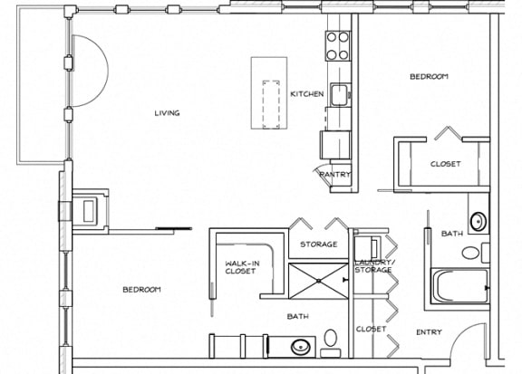 Eitel Apartments B6 2 bedroom floor plan