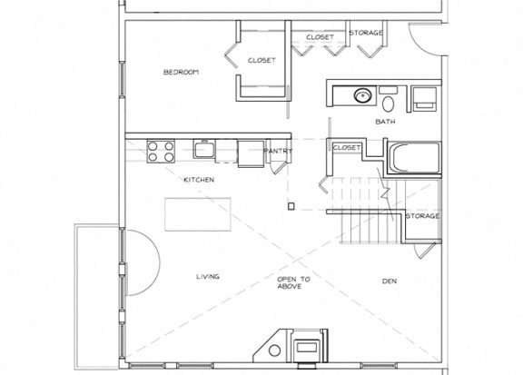 Eitel Apartments B7 2 bedroom floor plan
