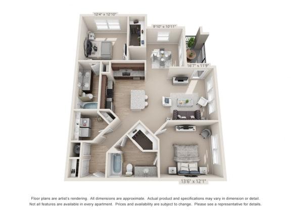 Floor Plan  Atlantic at Parkridge Parkridge 2Bed2Bath
