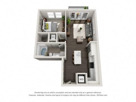 Floor Plan  A3 Floor Plan at Marq on Main, Lisle
