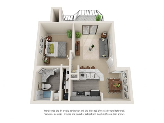 A_Floor plan in apartments near houston tx