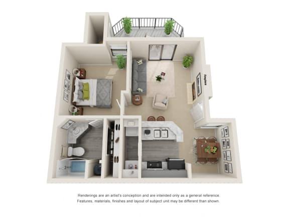 A1_Floor plan in apartments near houston tx