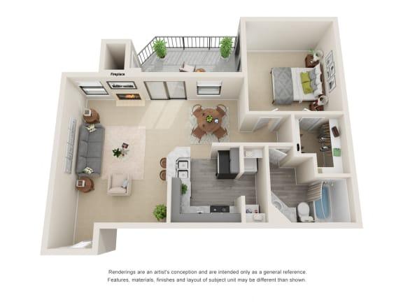 A2_Floor plan in apartments near houston tx
