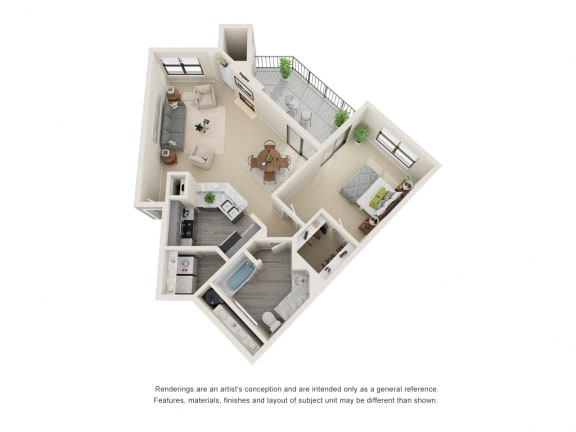A6_Floor plan in apartments near houston tx