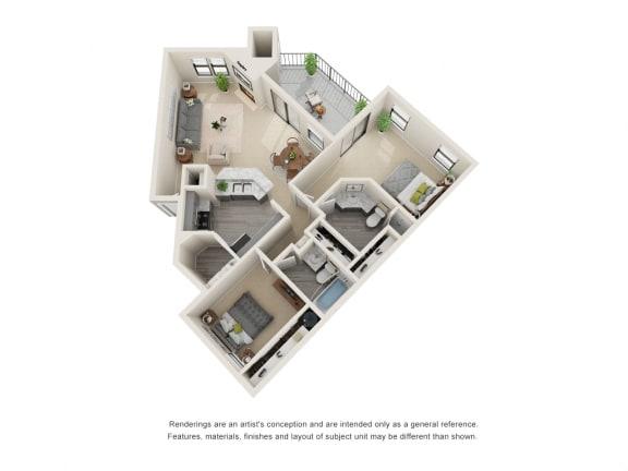 B3_Floor plan in apartments near houston tx