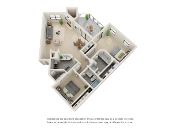 B4_Floor plan in apartments near houston tx
