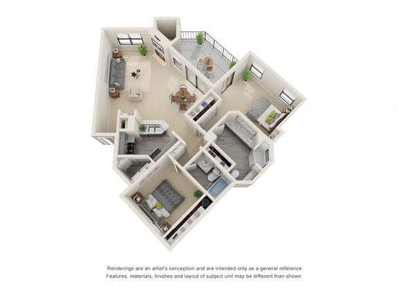 B5_Floor plan in apartments near houston tx