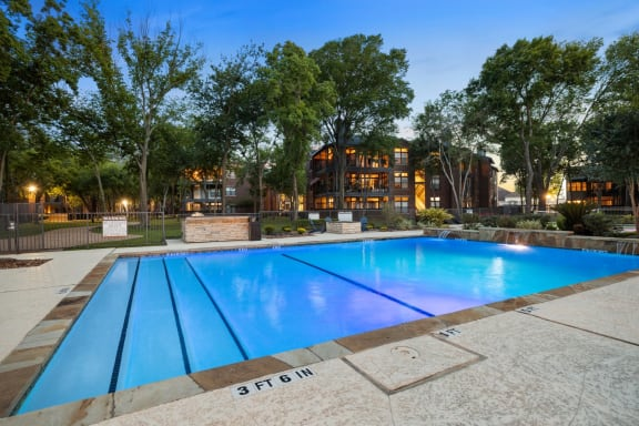sparkling swimming pool in webster apartments
