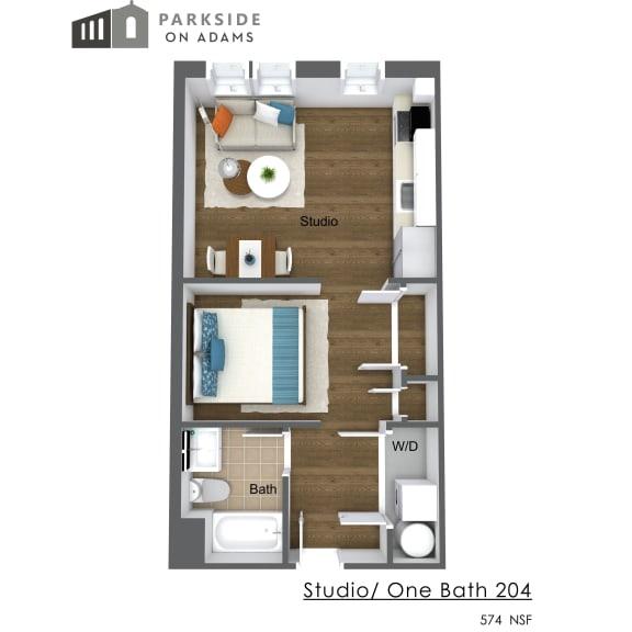 Floor Plan  Studio 204
