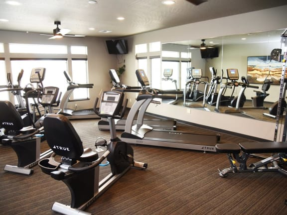 fitness center at the brix apartments spokane valley washington