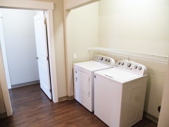 In-Unit Laundry at the brix apartments spokane