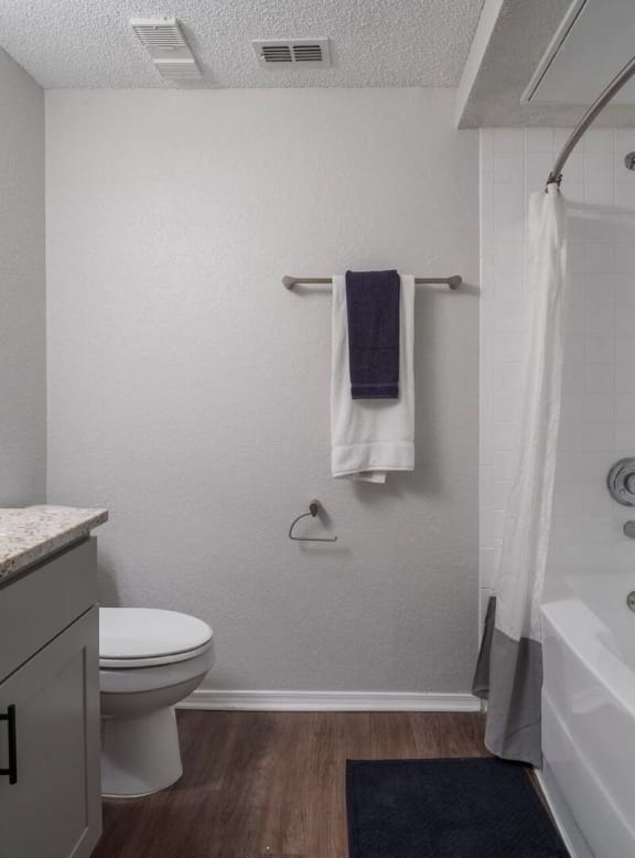 Updated bathroom at Promenade at Carillon, St. Petersburg, FL, 33716