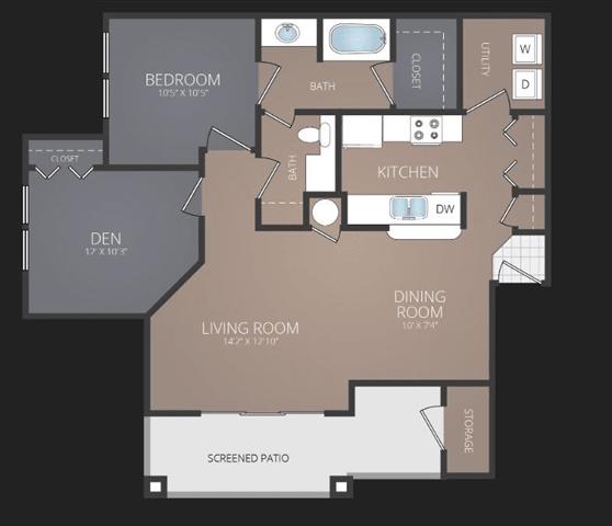 A3 Floor Plan at Promenade at Carillon, St. Petersburg, Florida