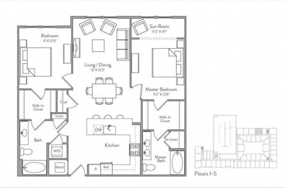 Floor Plan  B2A