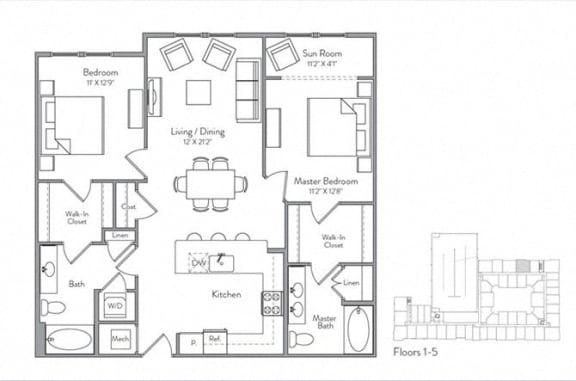 Floor Plan  B1A