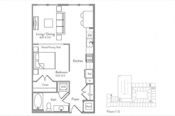 Floor Plans Of Monument Village At College Park In College Park Md