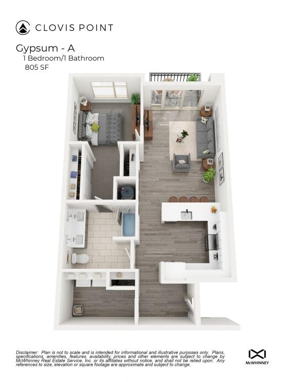 Floor Plan  Gypsum Floor Plan at Clovis Point, Longmont, 80501