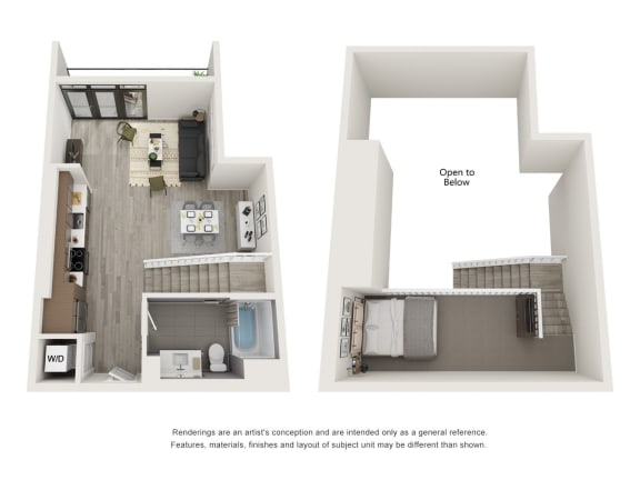 4th and J San Diego, CA S11 Floor Plan 741 to 752 SF