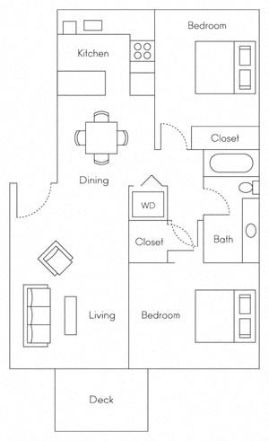 Floor Plan  Clipper Floor Plans at Serenity at Larkspur, California, 94939