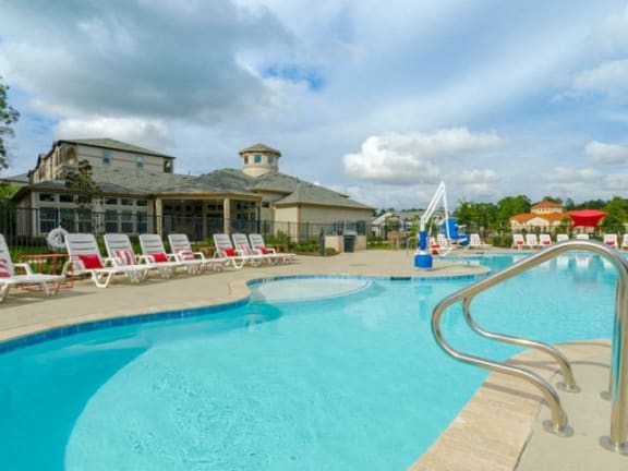Crystal Clear Swimming Pool at Grand Estates in the Forest, Conroe, Texas