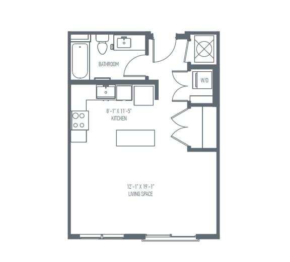 A2 Floor Plan at Union Berkley, Kansas City, MO, 64120