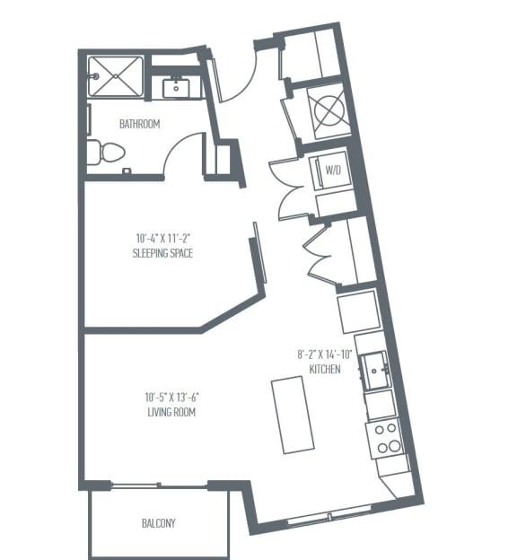 Floor Plan  A3 Floor Plan at Union Berkley, Kansas City, 64120