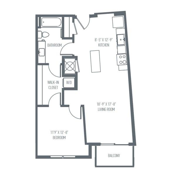 Floor Plan  B6 | B7 Floor Plan at Union Berkley, Kansas City, 64120