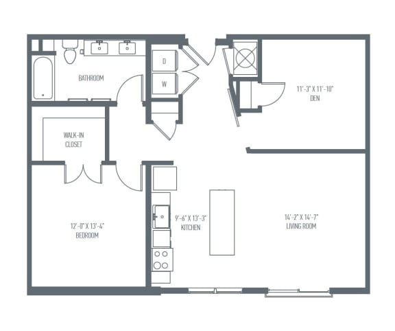 Floor Plan  C3 Floor Plan at Union Berkley, Missouri, 64120