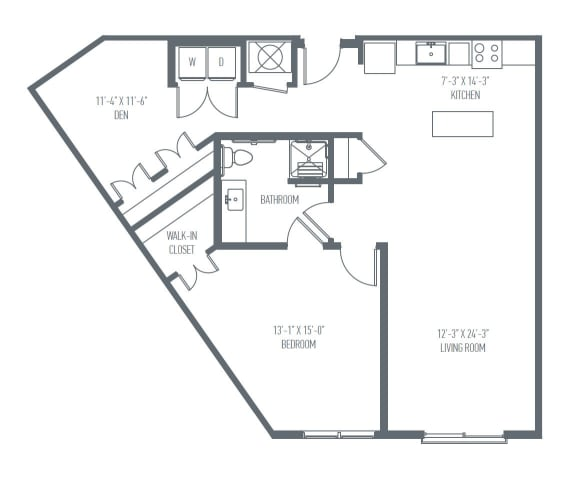 C9 Floor Plan at Union Berkley, Kansas City, MO, 64120
