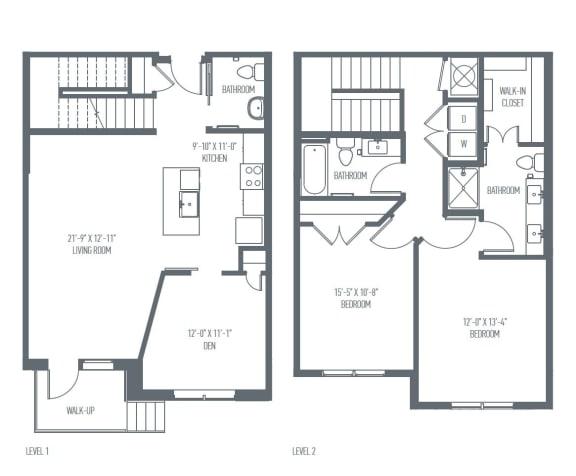 Floor Plan  G- Townhome Floor Plan at Union Berkley, Missouri