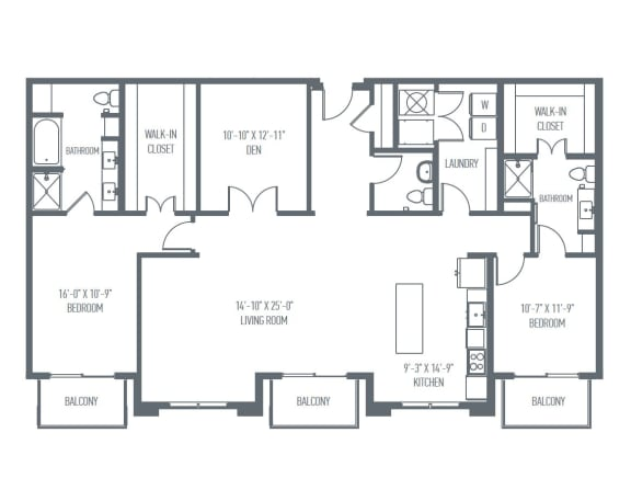 Floor Plan  P2 Floor Plan at Union Berkley, Kansas City, MO, 64120