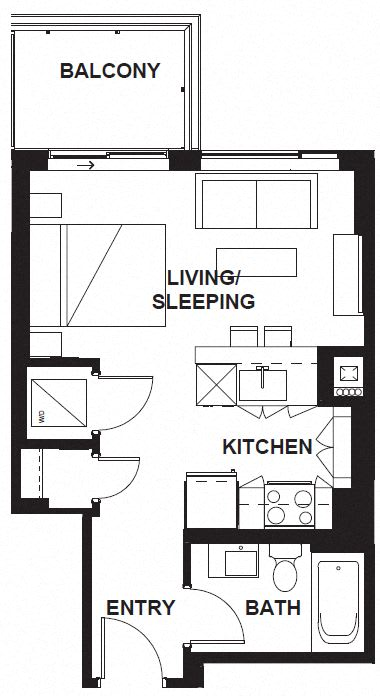 Floor Plan  E-X05 FloorPlan at VERSUS, Calgary, T2R 1A8