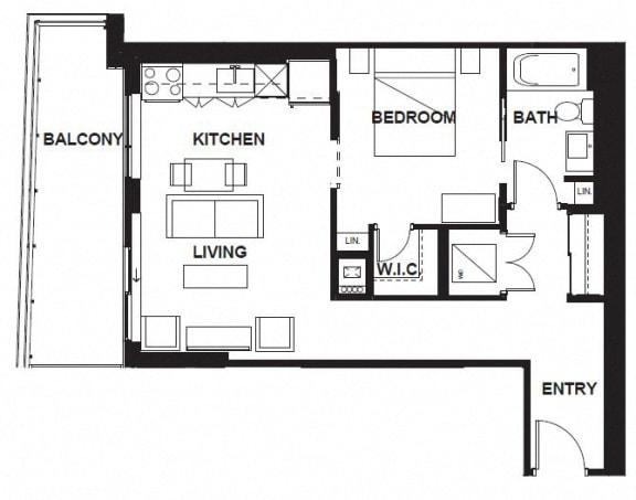 Floor Plan  W-301-W-X01 FloorPlan at VERSUS, Calgary, AB, T2R 1A8
