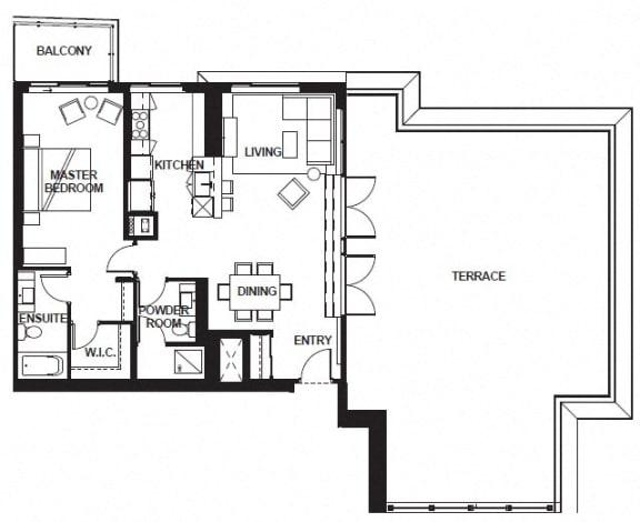 Floor Plan  W-3406 FloorPlan at VERSUS, Calgary, Alberta