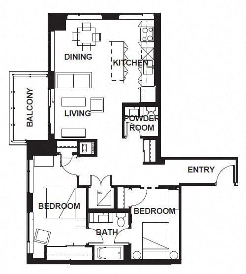 Floor Plan  W-305-W-X05 FloorPlan at VERSUS, Calgary